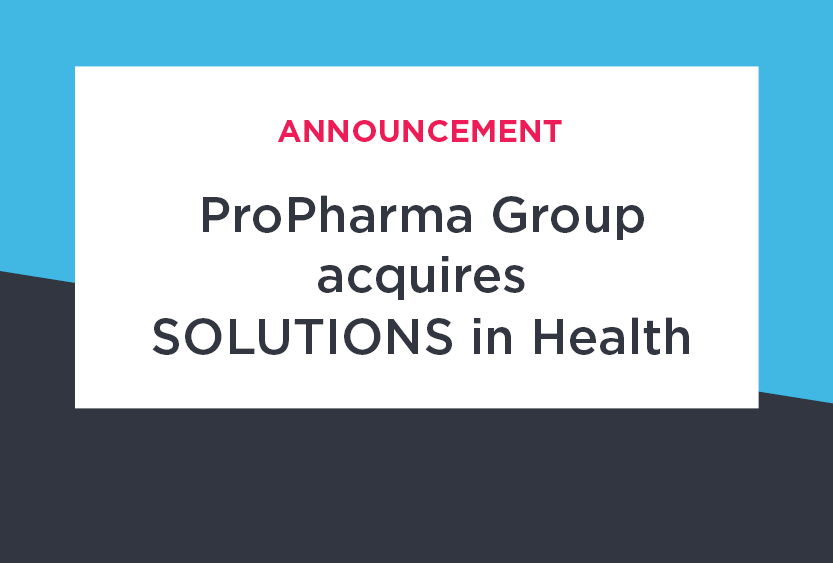 ProPharma Group Announces Acquisition of SOLUTIONS in Health